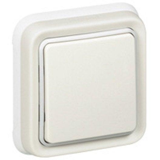 interrupteur et prise tanche au meilleur prix leroy merlin. Black Bedroom Furniture Sets. Home Design Ideas