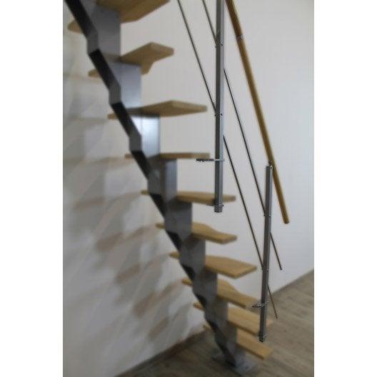 kit rambarde escadeca obapi en pin brut leroy merlin. Black Bedroom Furniture Sets. Home Design Ideas