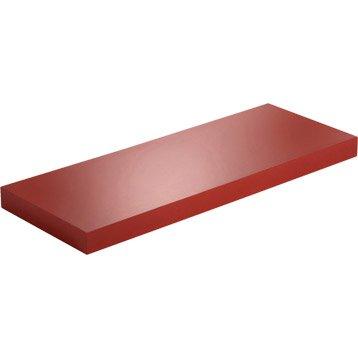 Etagère murale rouge-rouge n°3 SPACEO, 60X23,5X3,8 CM Ep.38 mm