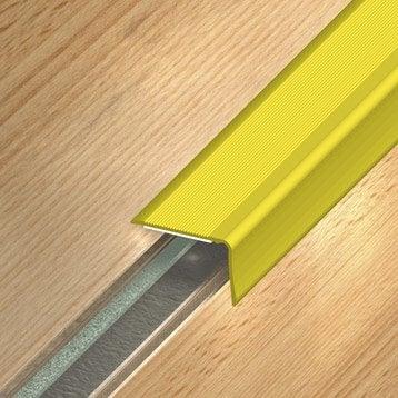 Nez de marche aluminium anodisé doré L.110 x l.3.6 cm