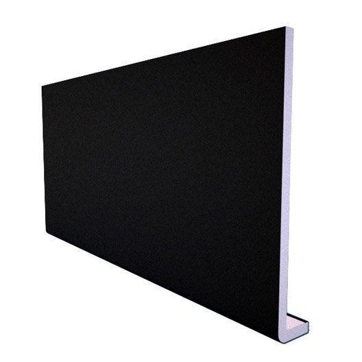 Bandeau de rive de toiture noir pvc l 3 m x - Planche de rive pvc ...