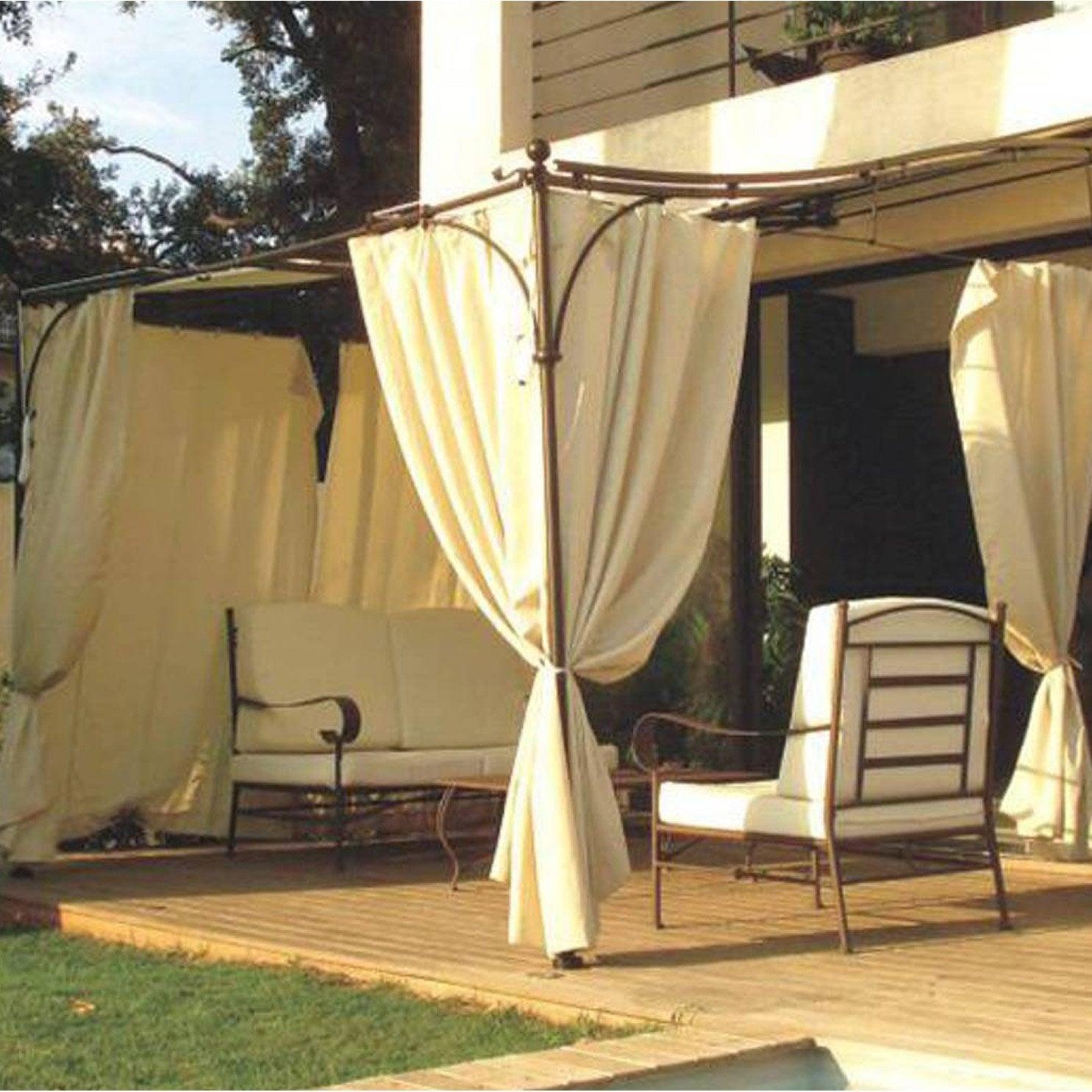 rideau polyester provence beige leroy merlin. Black Bedroom Furniture Sets. Home Design Ideas