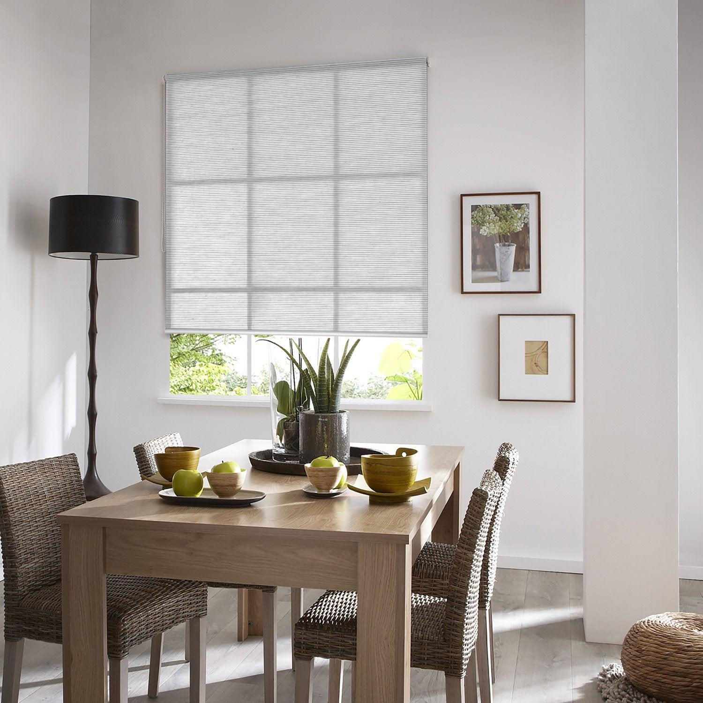Store enrouleur tamisant Straight, blanc, 65x190 cm | Leroy Merlin