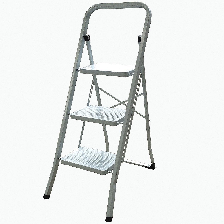 marchepied acier 3 marches utilisation occasionnelle leroy merlin. Black Bedroom Furniture Sets. Home Design Ideas