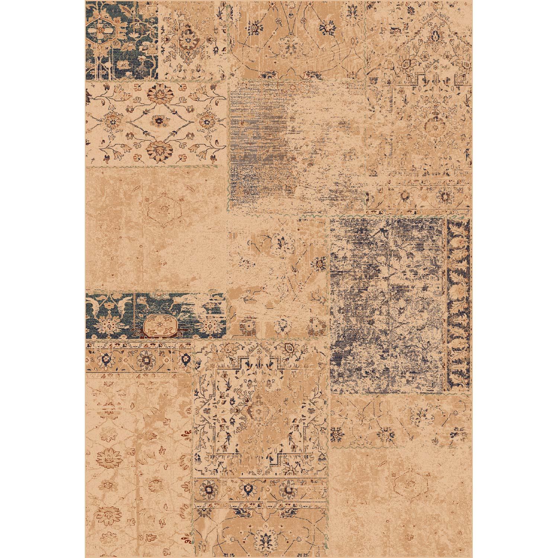 Tapis multicouleur rectangulaire, l.160 x L.230 cm viscose Ispahan