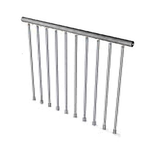 garde corps pour escalier steel zink pixima leroy merlin. Black Bedroom Furniture Sets. Home Design Ideas