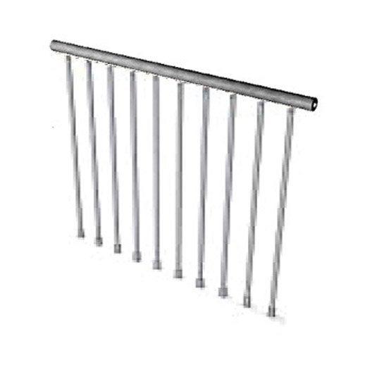 Garde corps pour escalier steel zink pixima leroy merlin - Garde corps escalier interieur leroy merlin ...