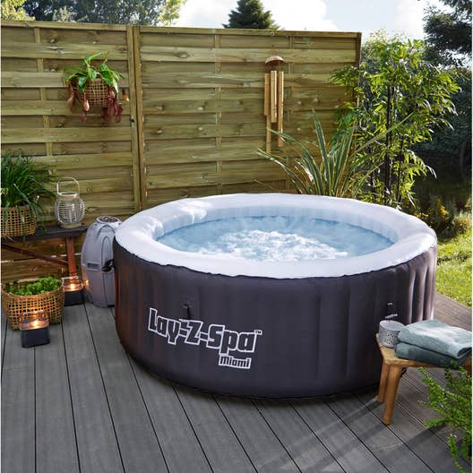 Spa gonflable bestway miami rond 4 places assises leroy merlin - Location jacuzzi a domicile ...
