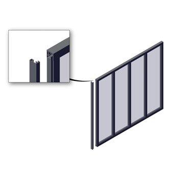 Poteau de finition pour verrière en kit aluminium noir