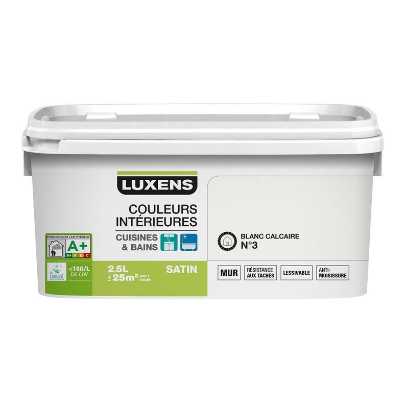 Peinture Couleurs Intérieures Luxens Blanc Calcaire 3 2 5 L