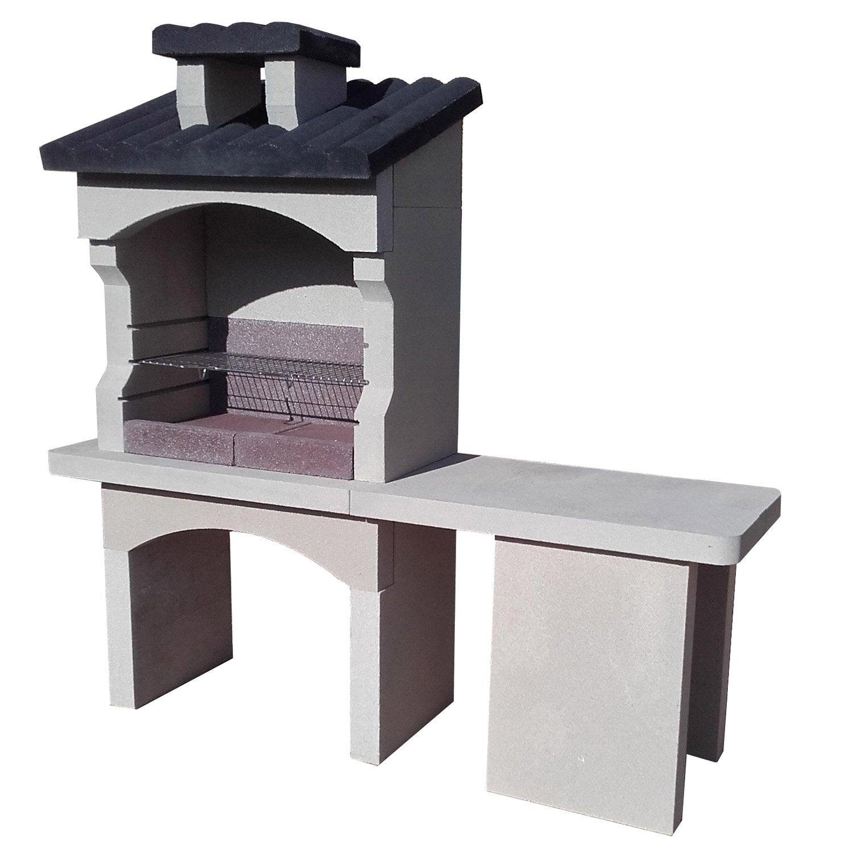 barbecue gris ardoise x x cm leroy merlin. Black Bedroom Furniture Sets. Home Design Ideas