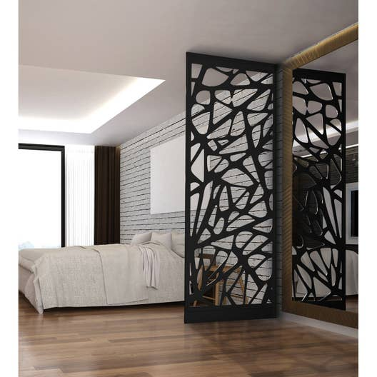 cloison de s paration graphik acier noir leroy merlin. Black Bedroom Furniture Sets. Home Design Ideas