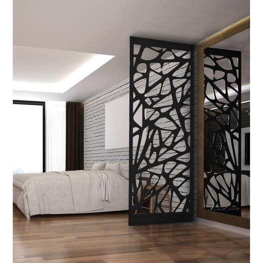 Cloison de s paration graphik acier noir leroy merlin - Cloison decorative ...