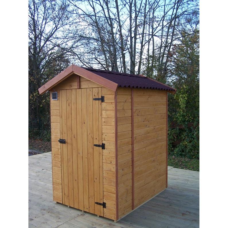 Abri de jardin en bois toilette sèche HABRITA Ed1419WC utile int ...