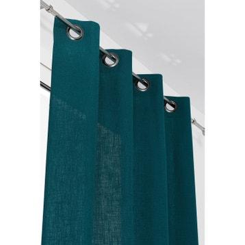 Rideau Bleu Canard au meilleur prix | Leroy Merlin