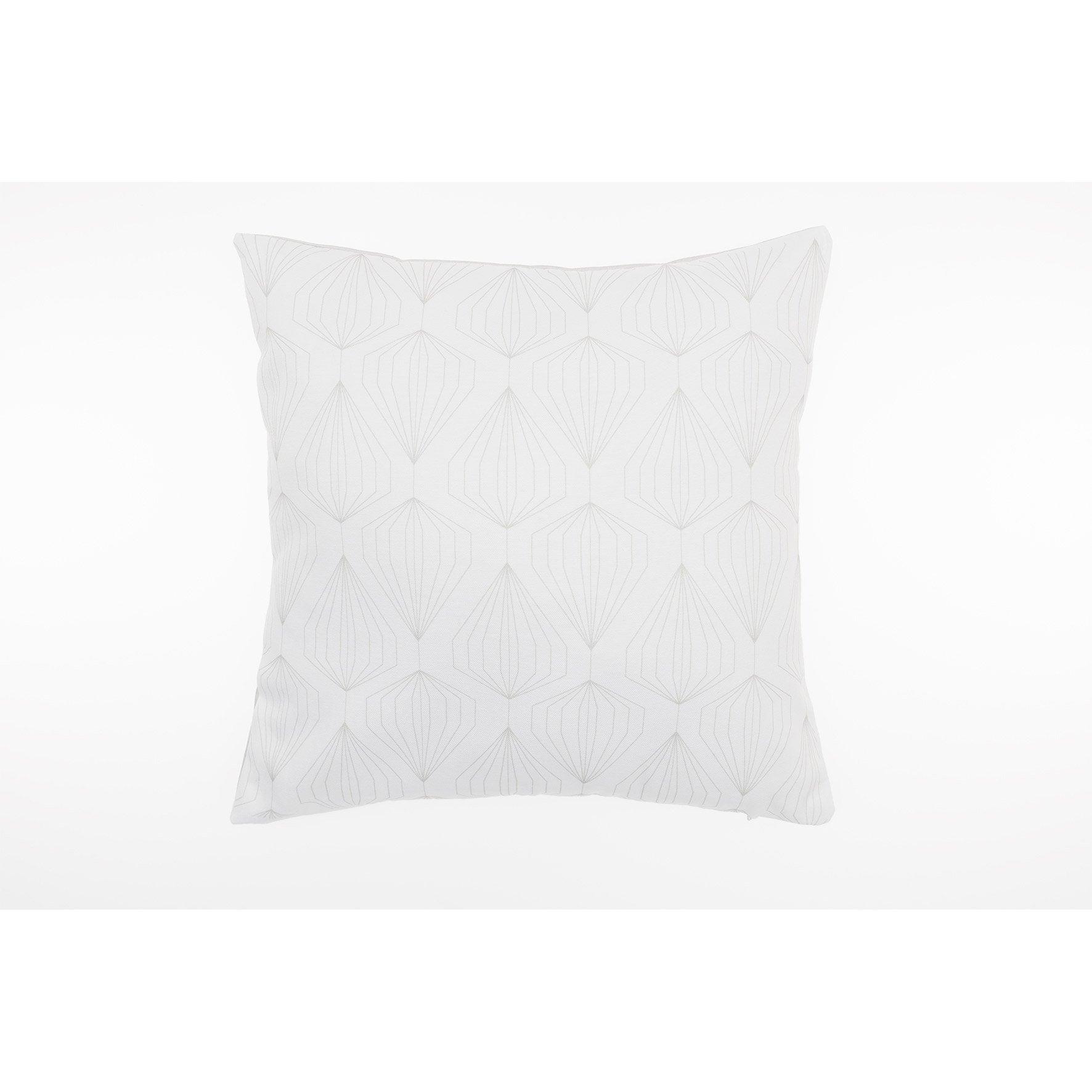 Coussin Diams JBY, blanc / gris l.40 x H.40 cm