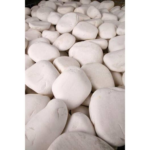 Galets purs en marbre, blanc, 40/60 mm, 10 kg   Leroy Merlin
