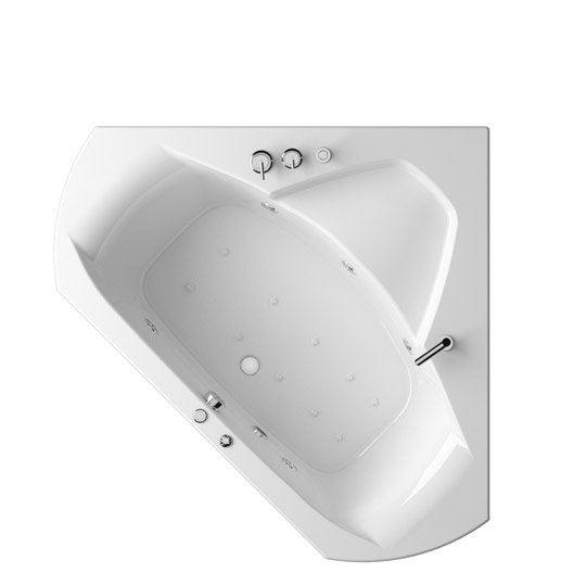 Baignoire baln o angle cm thala confort - Leroy merlin baignoire angle ...