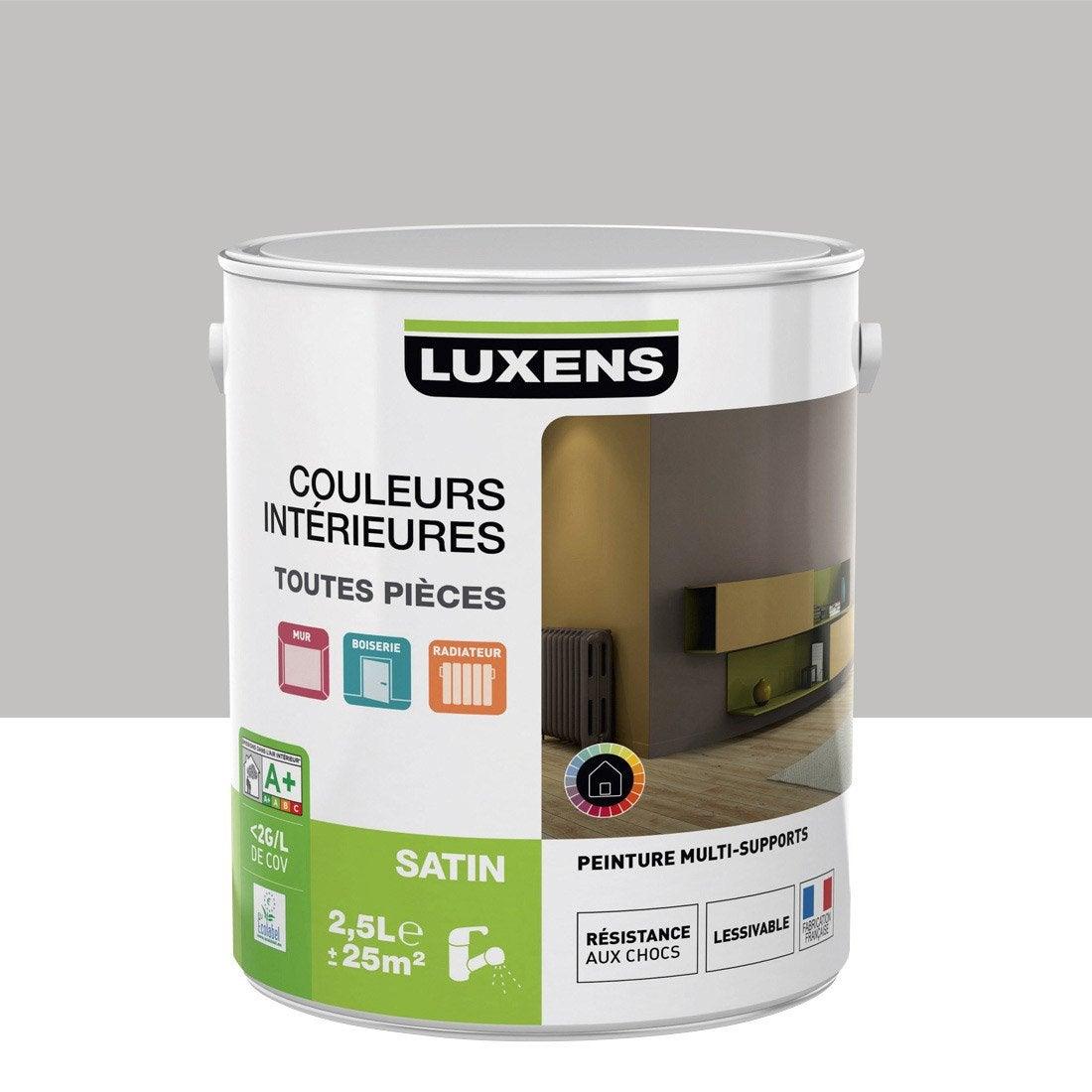 Peinture Gris Galet 5 Luxens Couleurs Int Rieures Satin 2 5 L