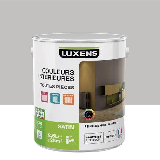 Peinture gris galet 5 LUXENS Couleurs intérieures satin 2.5 l ...