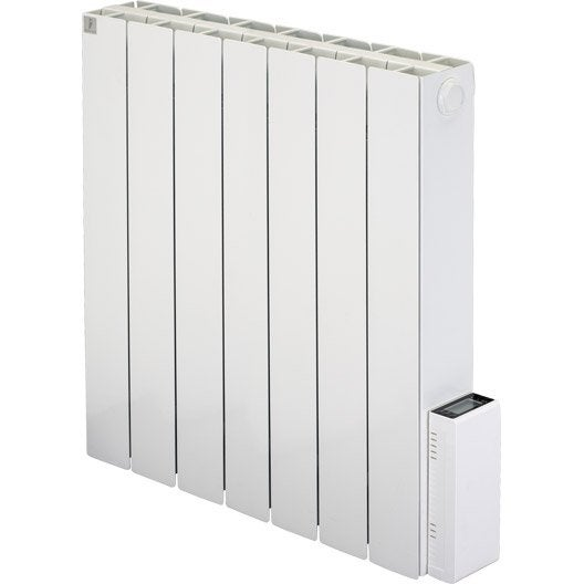radiateur lectrique inertie pierre deltacalor cubo digit 1500 w leroy merlin. Black Bedroom Furniture Sets. Home Design Ideas