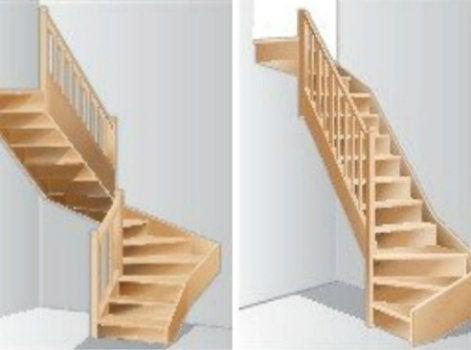 Les escaliers partie 3 leroy merlin for Encombrement escalier quart tournant