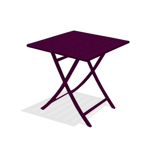 table de jardin marius carr e aubergine 2 personnes. Black Bedroom Furniture Sets. Home Design Ideas