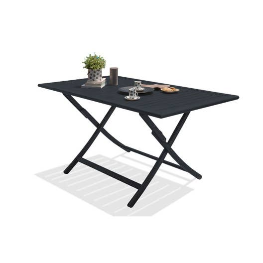 table de jardin marius rectangulaire gris anthracite 4 6. Black Bedroom Furniture Sets. Home Design Ideas