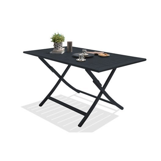 table de jardin marius rectangulaire gris anthracite 4/6 personnes