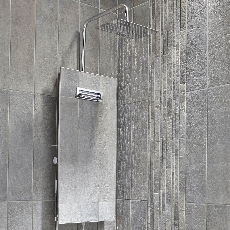 colonne de douche avec robinetterie valentin totem leroy merlin. Black Bedroom Furniture Sets. Home Design Ideas