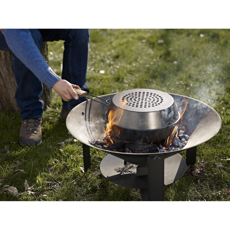 brasero au charbon de bois barbecook modern noir leroy merlin. Black Bedroom Furniture Sets. Home Design Ideas