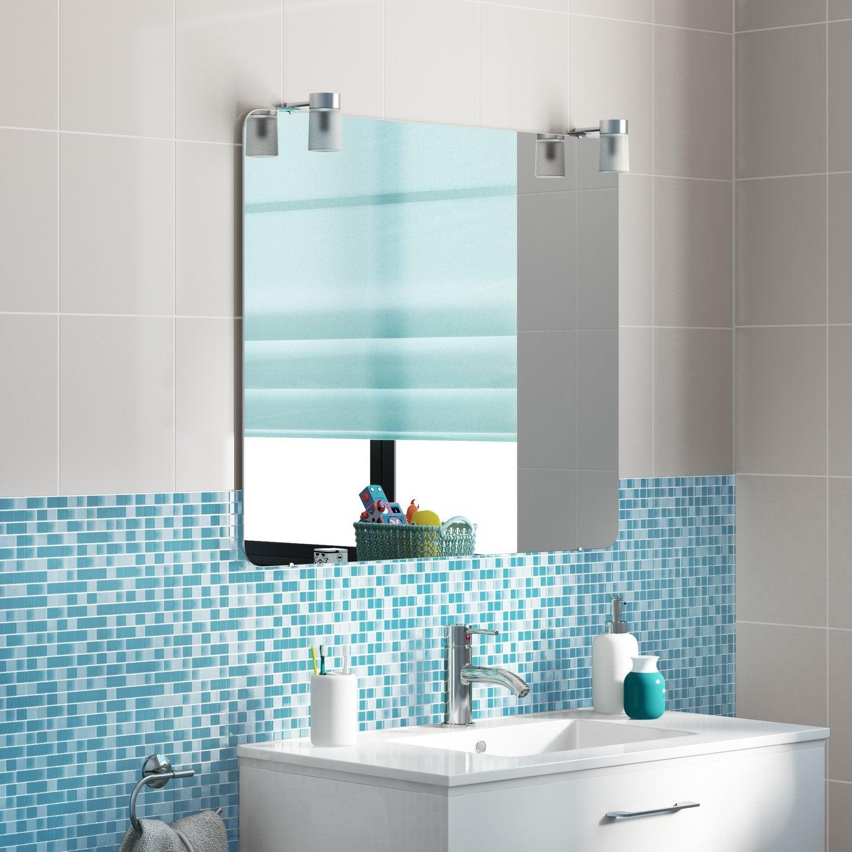 Habiller Le Lavabo De La Salle De Bain Avec Un Carrelage Mosaïque Bleu Et  Blanc
