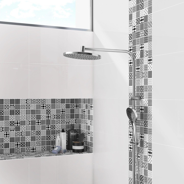 Frise Salle De Bain Horizontale Ou Verticale la mosaïque revisite les carreaux de ciment | leroy merlin