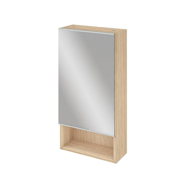 Armoire de toilette l. 35.9 cm, chêne naturel, SENSEA Easy