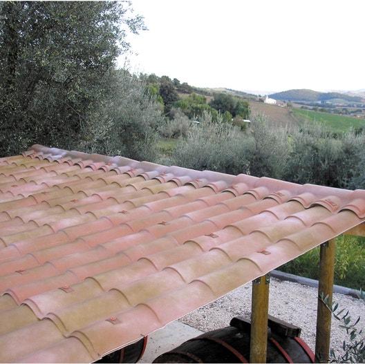 Plaque de toiture imitation tuile composite florence l.1.03xL.2.08 m FIRST PLAST | Leroy Merlin