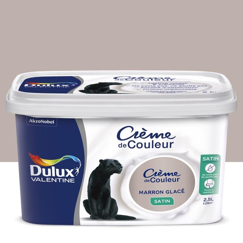 Peinture Marron Glace Satin Dulux Valentine Crème De Couleur 2 5 L