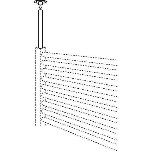 Fixation de plafond pour s che serviettes jaga leroy merlin for Fixation ventilateur de plafond