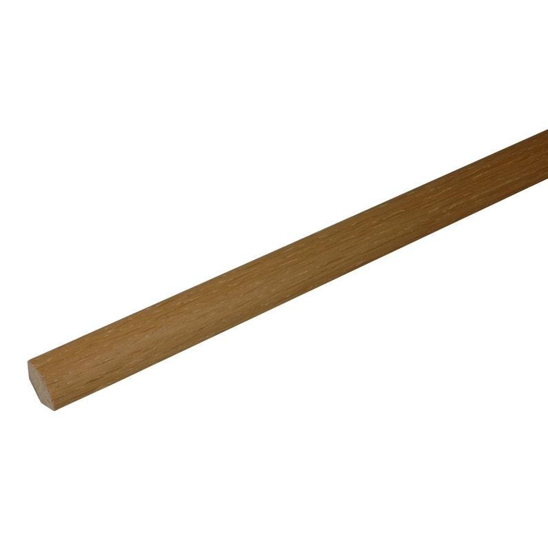 quart-de-rond parquet effet chêne blond, l.220 cm x h.14 x ep.14 mm