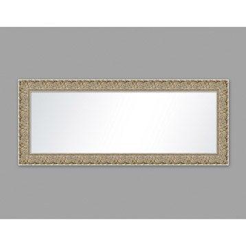 Miroir Orné, blanc, l.50 x H.150 cm