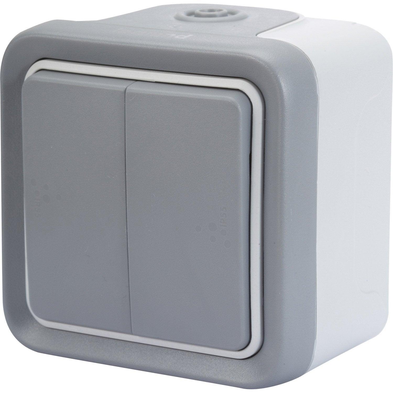 double interrupteur va et vient tanche plexo legrand. Black Bedroom Furniture Sets. Home Design Ideas