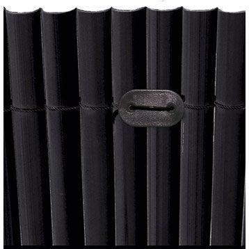 Kit de fixation pour canisse plastique NATERIAL Fixcane 26 past + 26 fils, noir