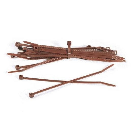 50 attaches naterial bridfix 19 cm marron leroy merlin. Black Bedroom Furniture Sets. Home Design Ideas