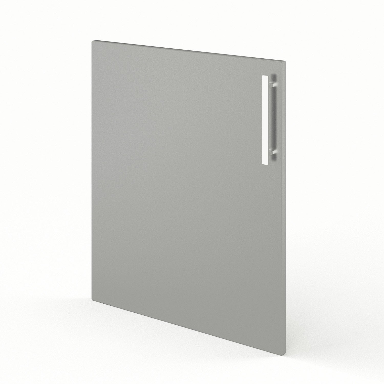 Porte de cuisine gris d lice x cm leroy merlin for Porte 60 x 30
