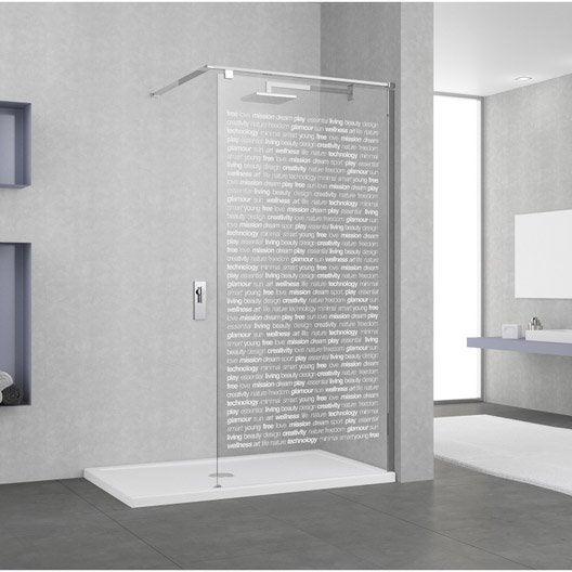 Paroi de douche l 39 italienne au meilleur prix leroy merlin - Nettoyer paroi de douche ...