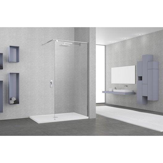 paroi de douche l 39 italienne cm verre transparent 8 mm eliseo leroy merlin. Black Bedroom Furniture Sets. Home Design Ideas