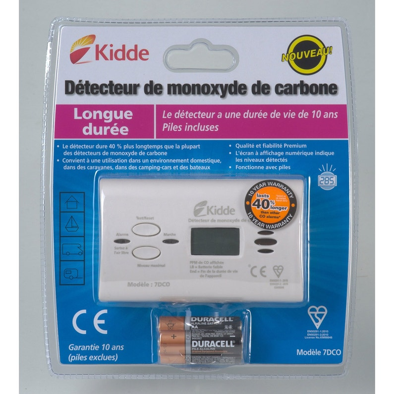 Détecteur De Monoxyde De Carbone Kidde 7dco K799 1 An