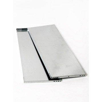 Tablette pour système modulaire versatile AR SISTEMAS, l.80 x H.3.2 x P.40 cm