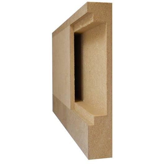 Plinthe Mdf Dans Salle De Bain ~ plinthe passe c ble en mdf brut 18x108mm l 2 44m leroy merlin