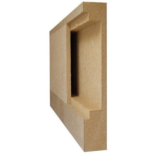 finest plinthe passe cble en mdf brut xmm l m with boite. Black Bedroom Furniture Sets. Home Design Ideas