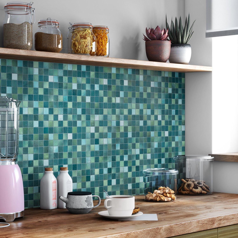 Habiller sa cuisine avec un carrelage mosaïque vert | Leroy Merlin